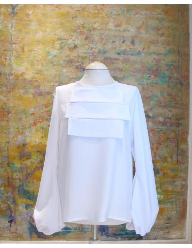 Blusa blanca Elisa
