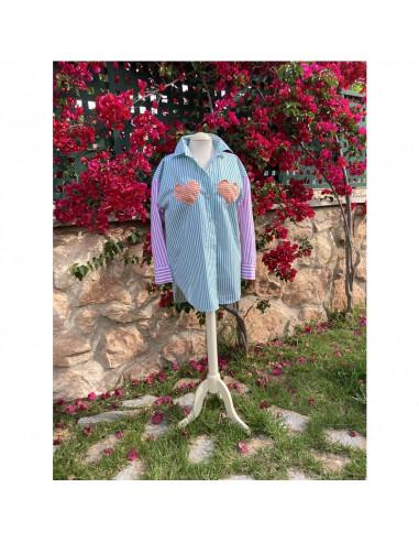 Blusa camisera azul